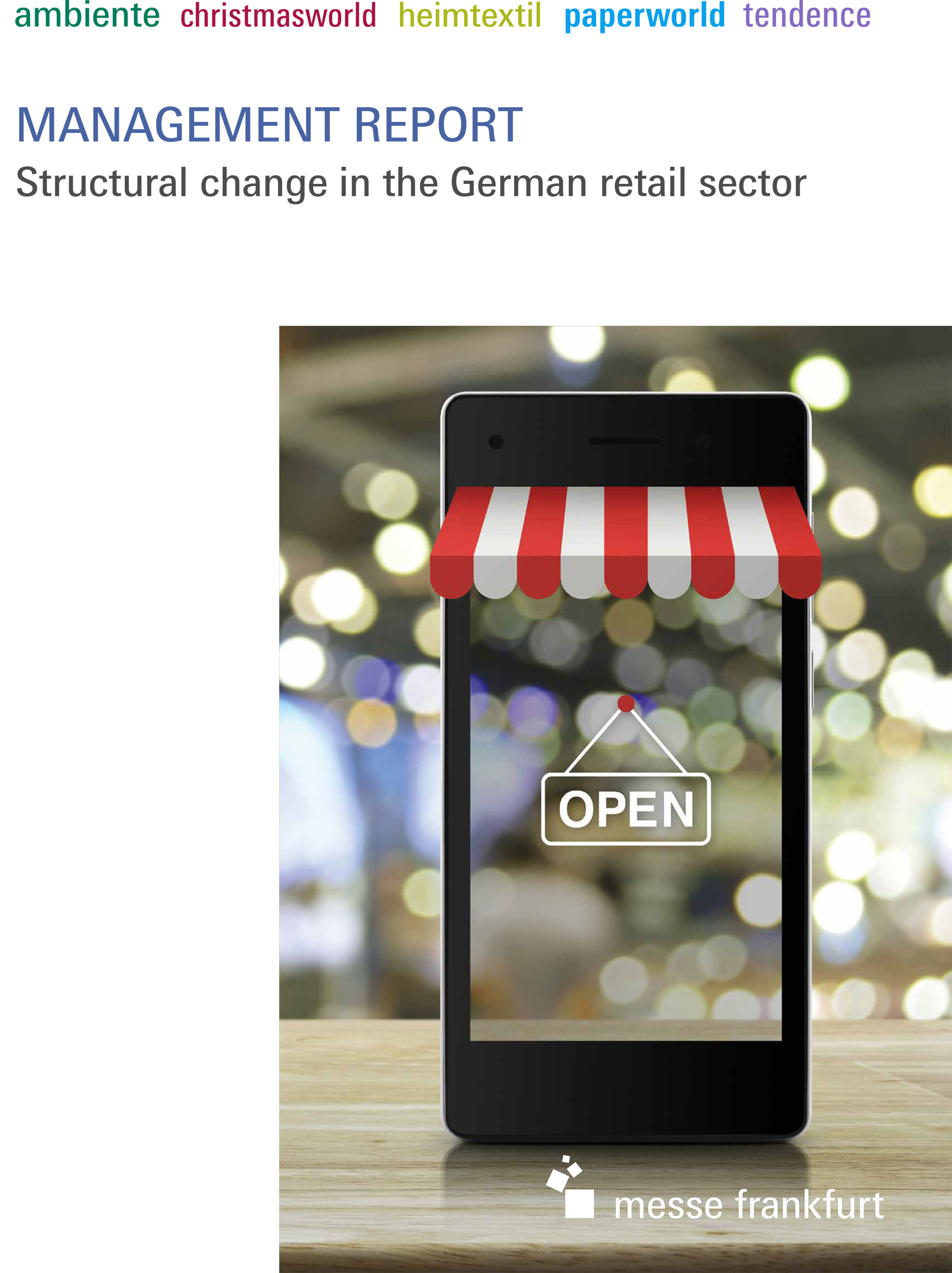 Management Report (Structural change in the German retail sector) Cover