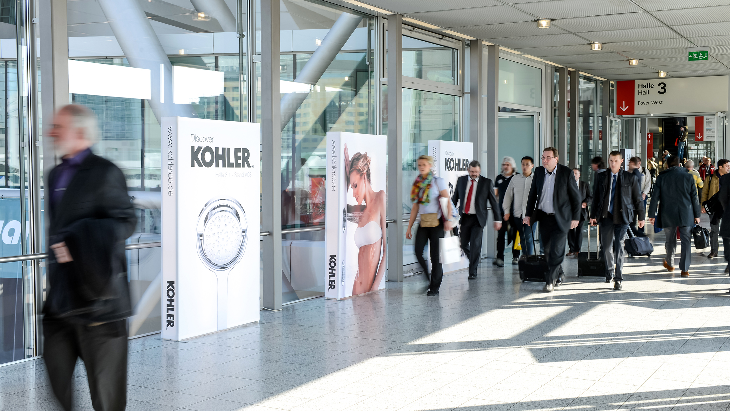 Advertising space in the building of Messe Frankfurt