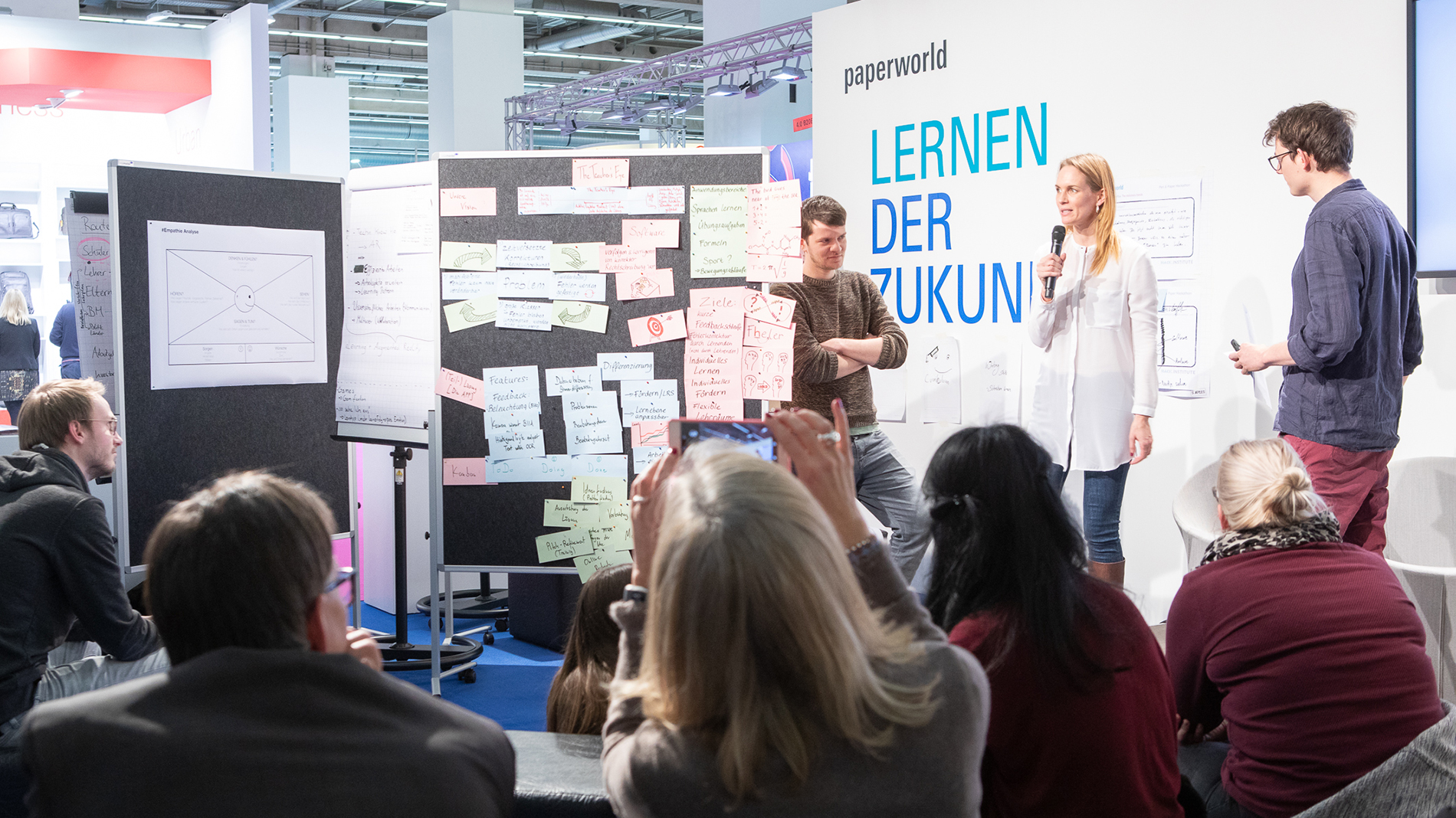 "Lectures and interactive workshops are in the focus ar ""Future Learning"".  (Photo: Messe Frankfurt)"