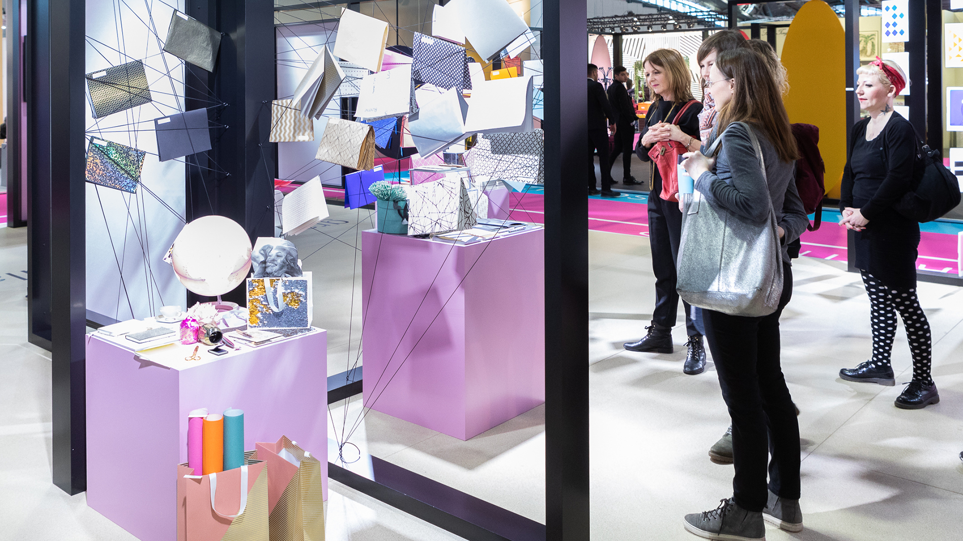 "Visitors take a look at the trend ""graphic + particular"" at Paperworld"