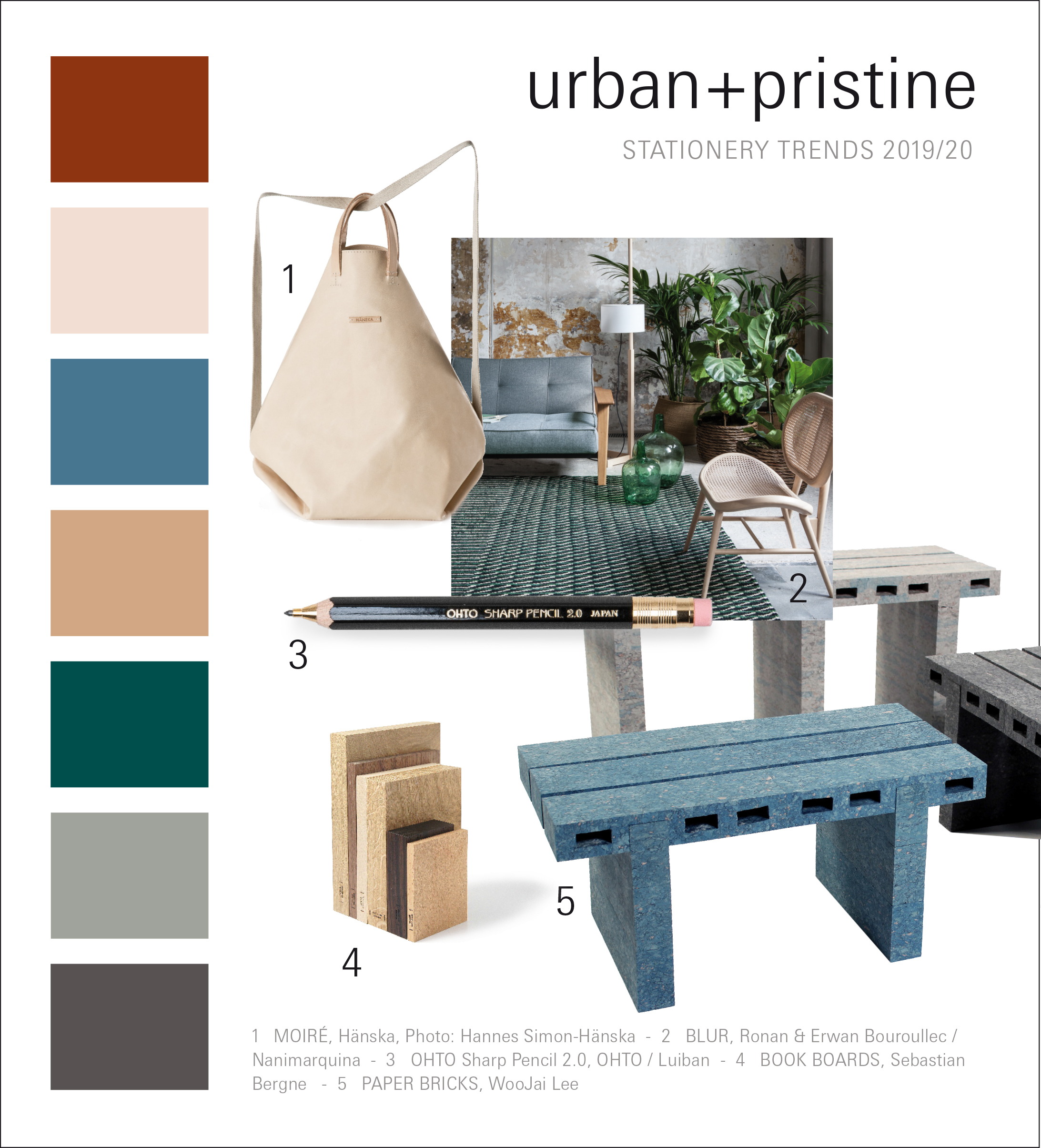 Paperworld Trends 2019/20: urban + pristine