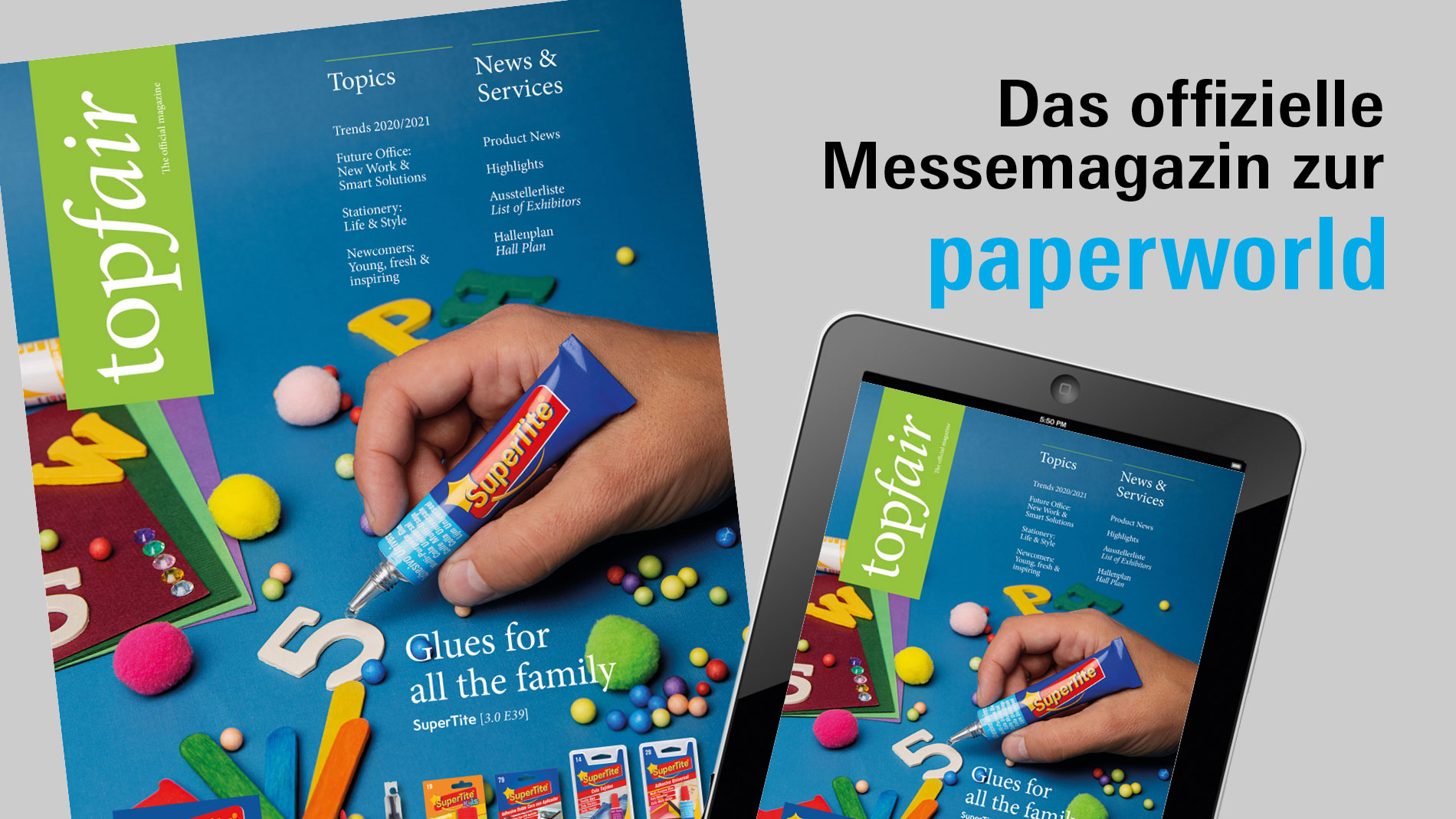 Messemagazin Top Fair auf der Messe