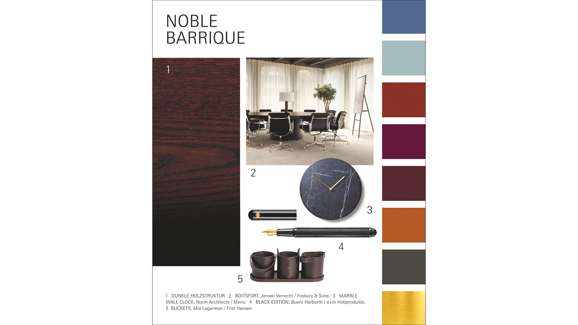 Paperworld Trends 2020/21: Trendkarte zu Noble Barrique