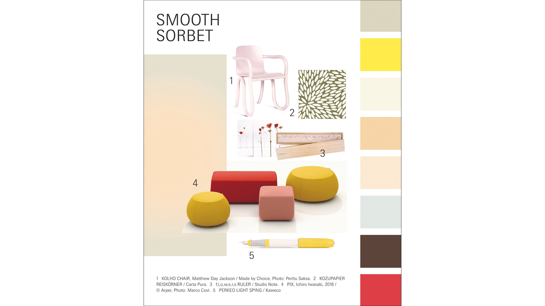 Paperworld Trends 2020/21: Trendkarte zu Smooth Sorbet