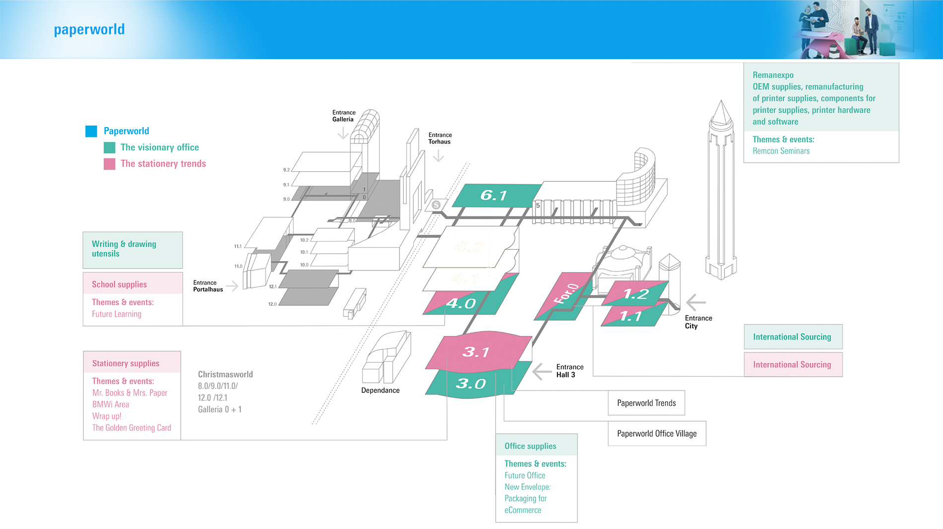 Exhibition hall plan for Paperworld 2020