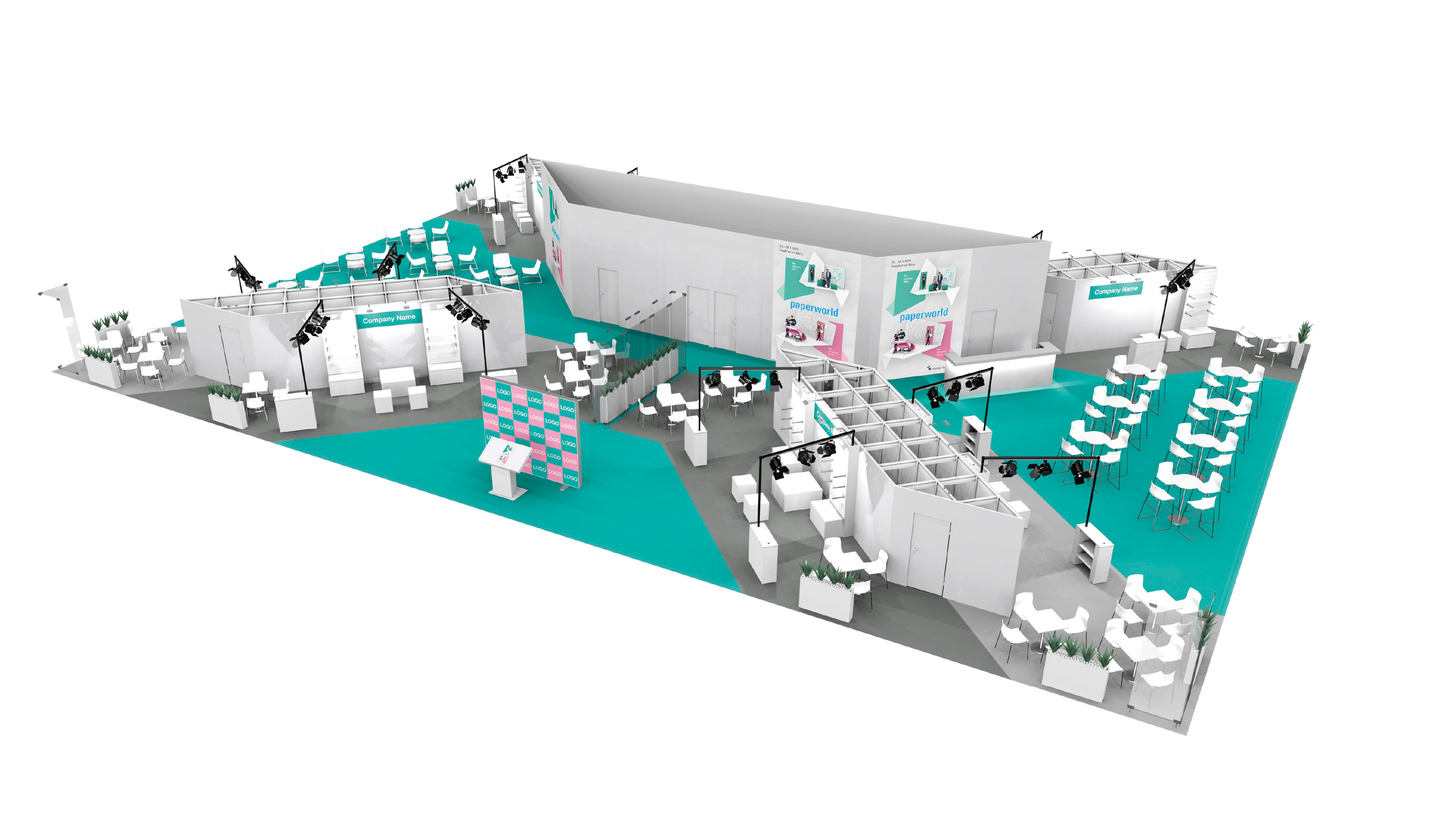 "Layout ""Paperworld Office Village"" - Areal für Markenhersteller"