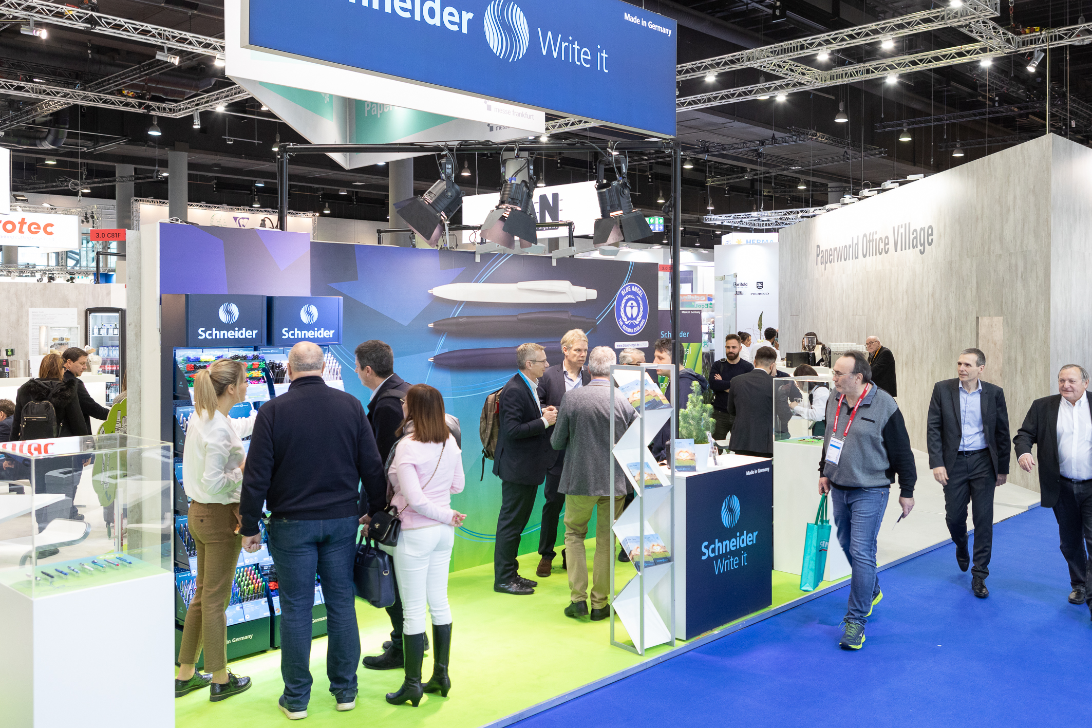 Paperworld Office Village: Booth of Schneider at Paperworld