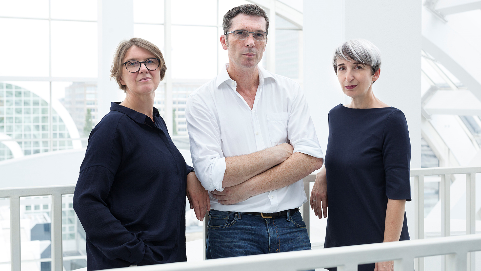 Designers Claudia Herke, Cem Bora and Annetta Palmisano from the design studio bora.herke.palmisano